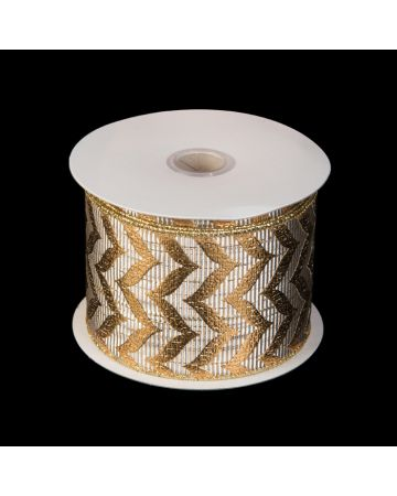 Ribbon - Gold Chevron