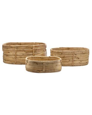 Safari Set of 3 Storage Baskets