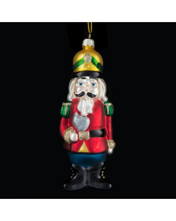 Soldier Tree Decoration - Red, Green & Gold