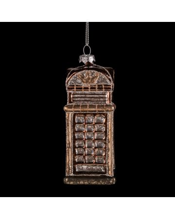 Bronze Phone Box Bauble