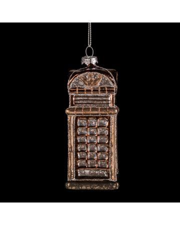 Phone Box Bauble - Bronze