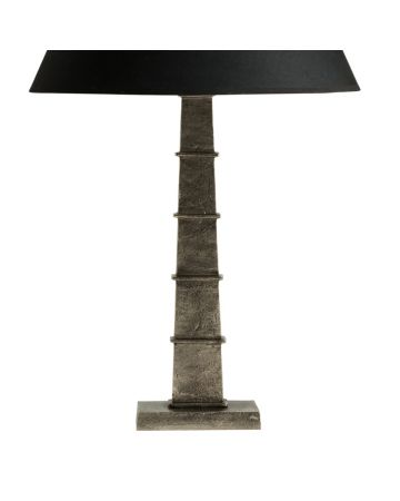 Tahoe Pewter Lamp Base - Short