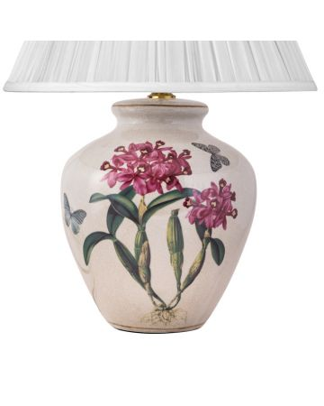 Pink Cattleya Orchid Lamp Base