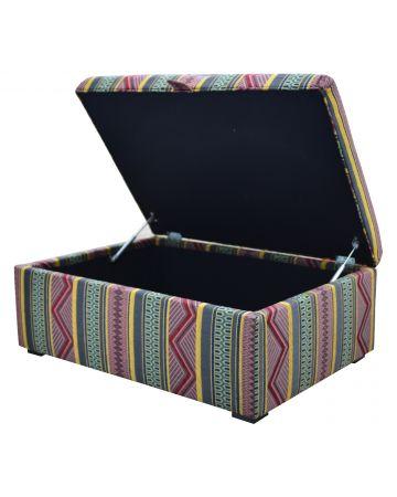 Romney Storage Ottoman - 'Somana' Jewel