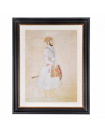 Mughal Emperor Bahadur Shah Framed Print