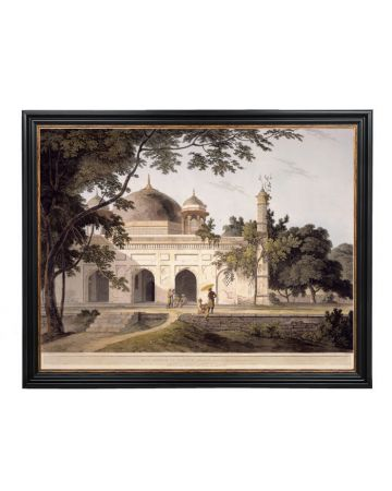 Mausoleum of Nawaub Asoph Khan, at Raje Mahel - Thomas Daniell Large Framed Print