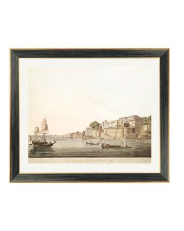 Ramnagar on the River Ganges - Thomas Daniell Framed Print