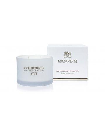 Rathbornes Classic Scented Candle - Cedar, Cloves & Ambergris