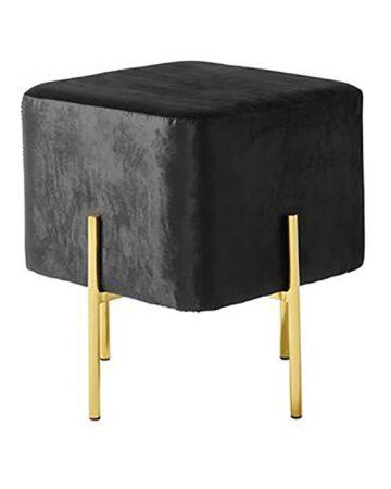 Rive Gauche Cube Stool - Black