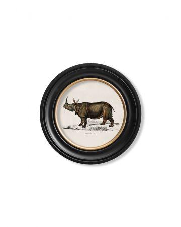Round Rhino Print - 44cm