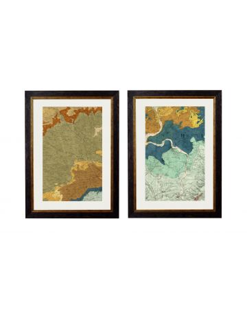 Geological Map of Cirencester & Oxford Set of 2 - Small