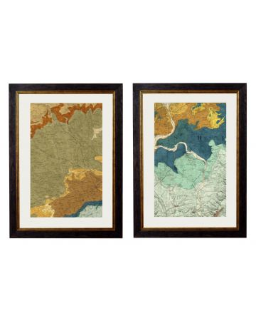 Geological Map of Cirencester & Oxford Set of 2 - Large