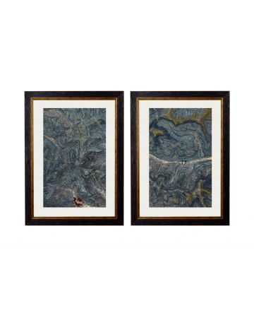 Geological Cumbria Set of 2 Maps - Small