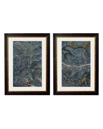 Geological Cumbria Set of 2 Maps - Large