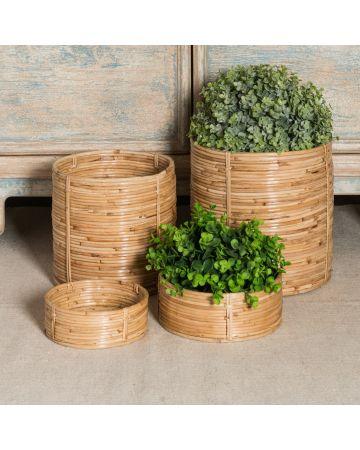 Safari Set of 2 Cylinder Baskets