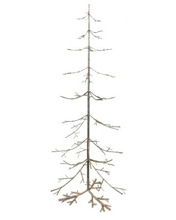 Gold Glitter Christmas Tree - 125 cm