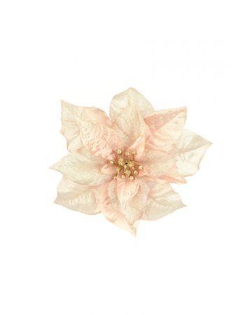 Poinsettia Clip Decoration - Pink