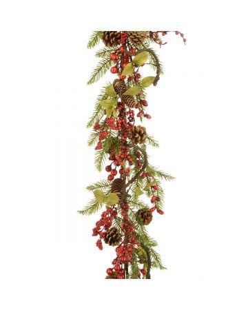 Twig, Pine & Berry Garland
