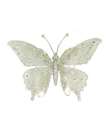 Glittered Butterfly Clip