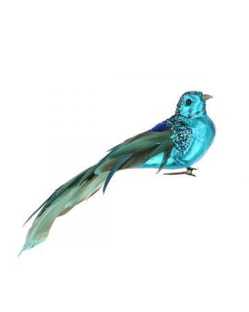 Metallic Bird Clip - Blue