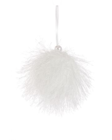White Butterfly Ball Hanger Decoration
