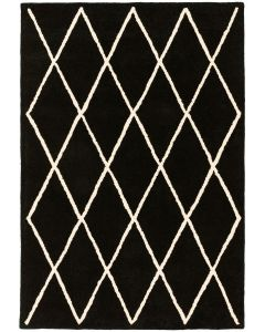 Trellis Wool Rug - Black
