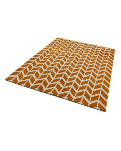 Bilbao Chevron Rug - Orange