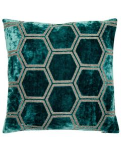 Honeycomb Cushion - Teal