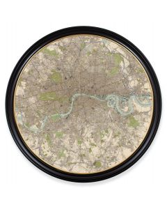 C.1905 Round Map of London