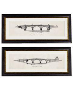 Elevations of Bridges Set of 2 Prints