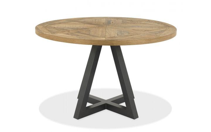 Bordeaux Oak Round Dining Table