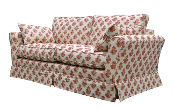 Barnaby Medium Sofa - Poppy 'Paisley' Red