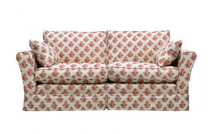 Barnaby Medium Sofa - 'Poppy Paisley' Red