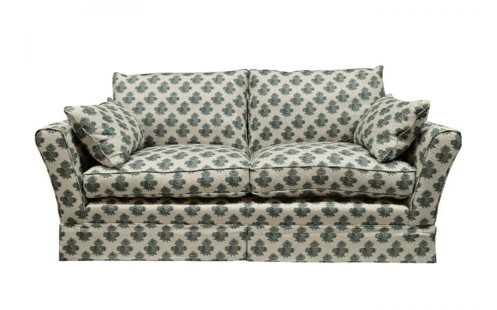 Barnaby Medium Sofa - 'Poppy Paisley' Indigo
