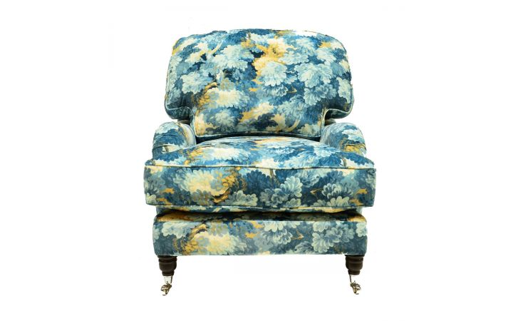 Buckingham Chair - 'English Oak' Cornflower