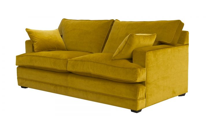 Lancaster Medium Sofa - Linwood 'Tango' Ochre