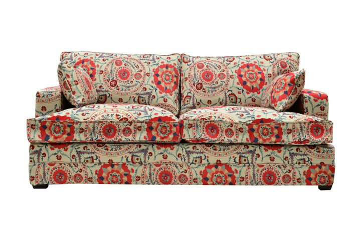Lancaster Medium Sofa - Anthos 'Red Indigo'