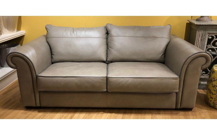Wentworth Medium Sofa - Pasture Sandstone with Dark Piping