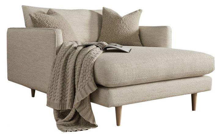 Clyde Snuggler Chaise - 'Monzo' Ivory