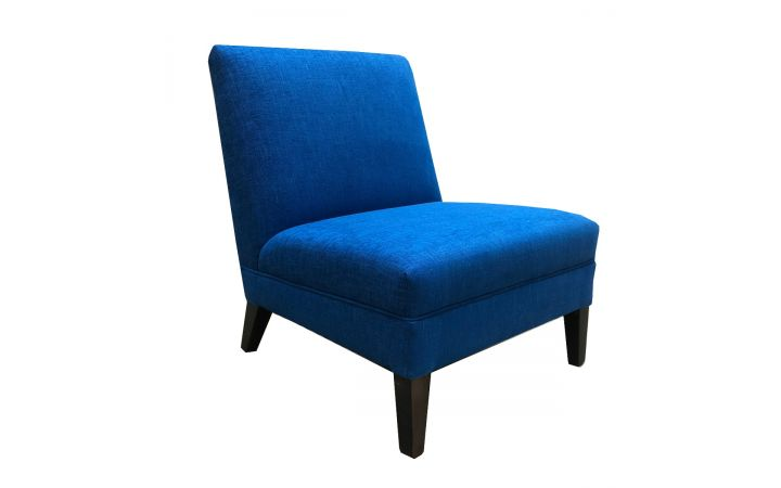 Romney Slipper Chair - 'Kreyola' Cobalt