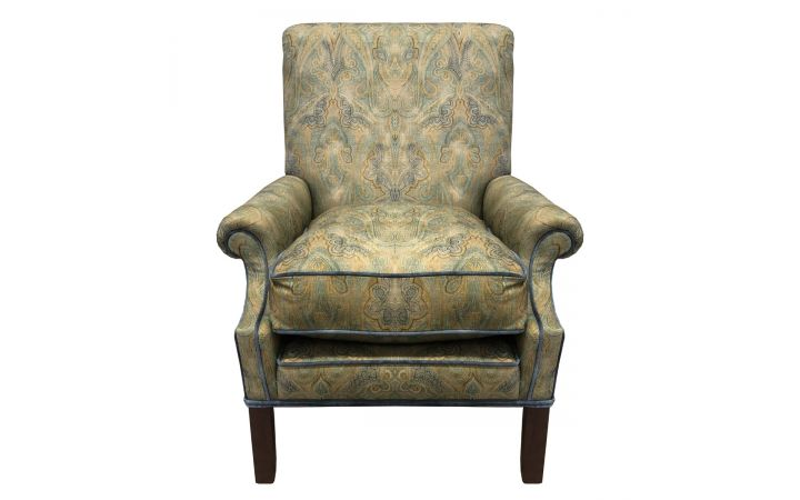 Osbourne Occasional Chair - Warwick Paisley 'Rousham' Chartreuse
