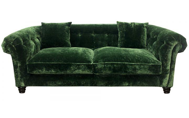 Hampton 3 Seat Sofa - Designers Guild 'Pavia' Fir