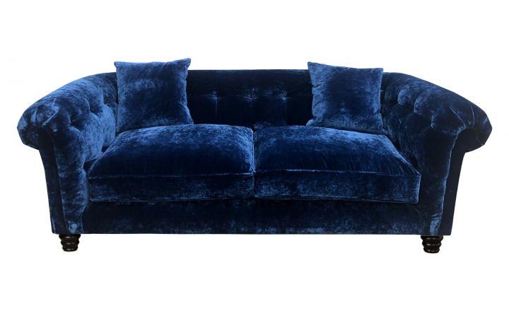 Hampton 3 Seat Sofa - Designers Guild 'Pavia' Indigo