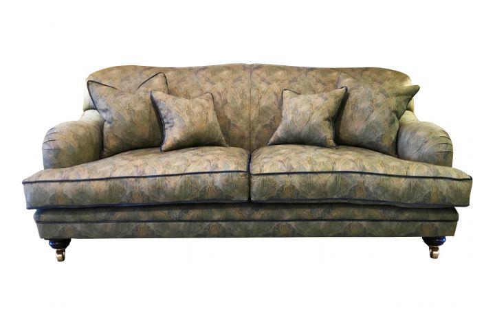 Lewes 2 Seat Grand Sofa - Warwick Paisley 'Rousham' Chartreuse