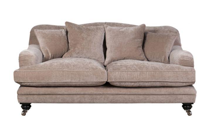 Lovat 2 Seat Sofa - 'Zaragoza' Pebble