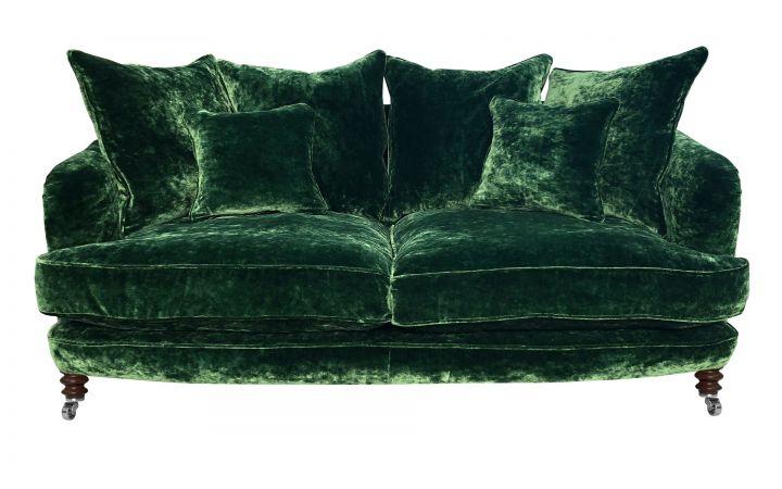 Ritz Large Sofa - Designers Guild 'Pavia' Fir