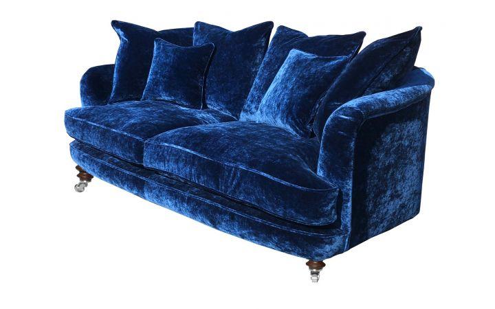 Ritz Large Sofa - Designers Guild 'Pavia' Indigo