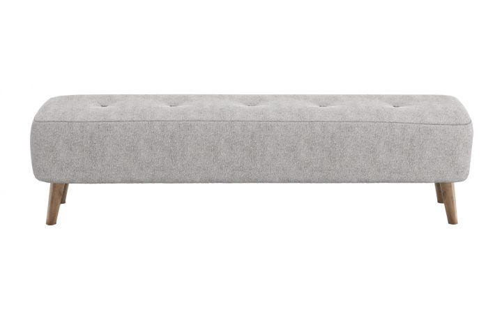 Porto Large Bench - 'Barona' Silver