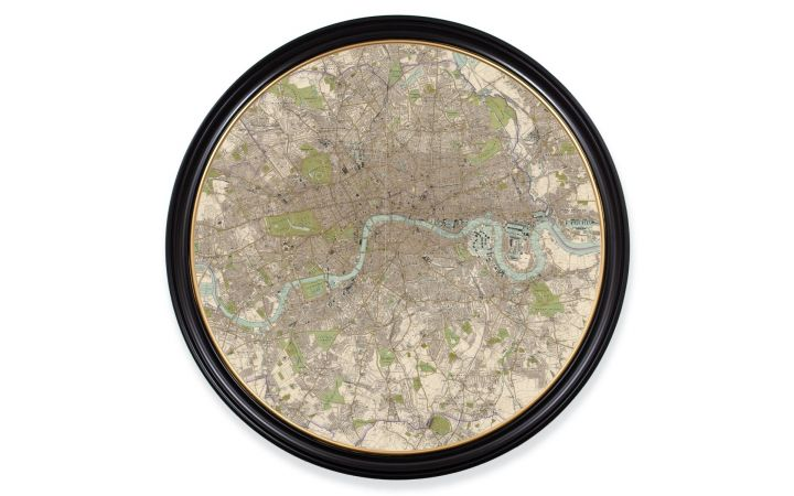 C.1905 XL Round Map of London