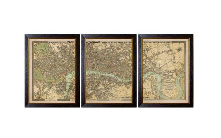 London Triptych Print - Small